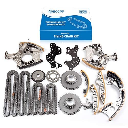 ECCPP Timing Chain Kit fits for 2005-2008 Audi A4 Quattro A6 3.2L 06E109229A 06E109229F