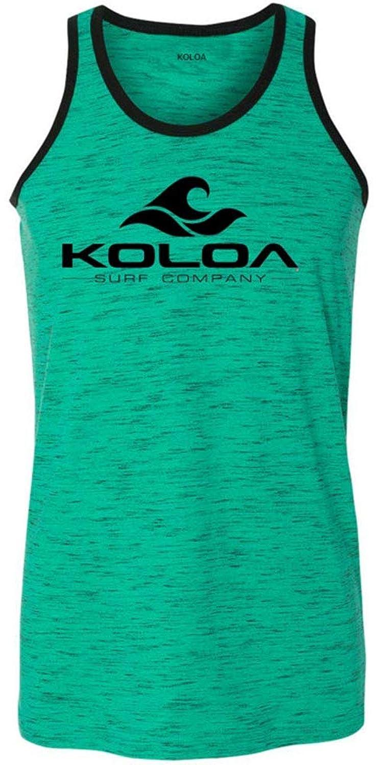 Koloa Surf Mens Classic Wave Heathered Ringer Tank Tops