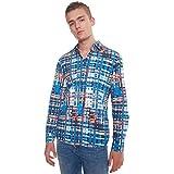 Desigual Ehud - Camisa de rayas de jacquard multicolor 5039azur S