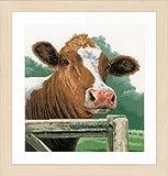 Unbekannt Lanarte Juego de Punto de Cruz, diseño de Vaca Aida, Cruz Cruz, algodón, Multicolor, 35x 35x 0,3cm