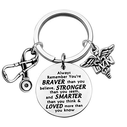 LVN Gift Key chains Licensed Vocational Nurse Gift LVN Graduation Gift LVN Student Gift Inspirational LVN Nurse Gifts Jewelry (keychain)
