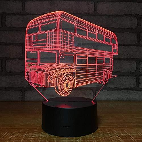 Jiushixw 3D acryl nachtlampje met afstandsbediening van kleur veranderende tafellamp auto bus producten bloem lezingsbox en inch gaoguang Soja kinderen nachtkastje lamp