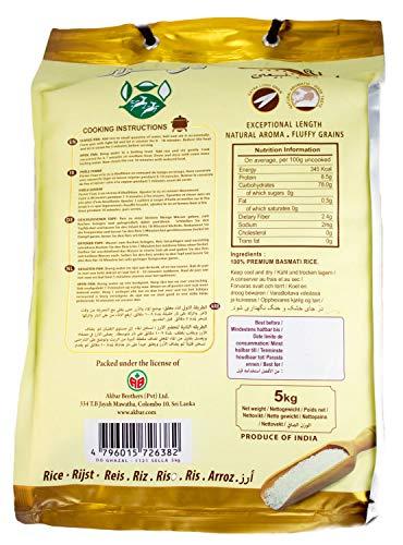 Do Ghazal- 5 Kg Basmati Reis Extra Langkorn Reis Permium Quality, Sella