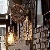 Wandleuchte E27 Vintage Wandlampe Retro Wandbeleuchtung Kreative Beleutung für Treppenhaus Flur Cafe Bar Restaurant Hotel (Bronze) - 8