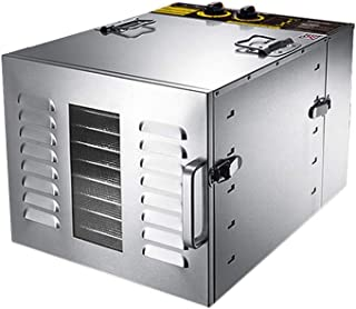 Food Dehydrators,Food Dehydrator Tiered 10 Tier 60L 1000W Stainless Steel Electric Food Dehydrator Machine Smart Timing 0~...