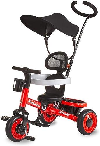entrega rápida Minmin-chezi Minmin-chezi Minmin-chezi Triciclo Infantil 1-5 años de Edad, Cochecito de bebé, Pedal de Tres Ruedas, Bicicleta, Triciclo de Empuje, resbaladizo, rojo  descuento de ventas