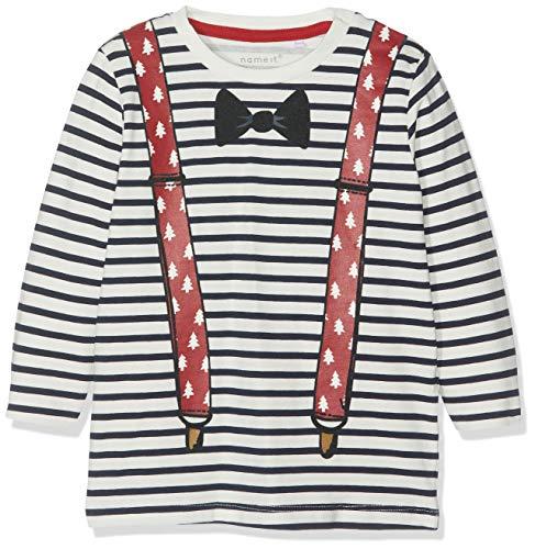 Name It Nbmrefilm Ls Top Box T-Shirt À Manches Longues, Rose (Dark Sapphire Dawn Pink), 62 Bébé garçon