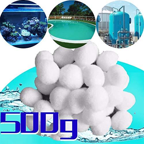 Btruely Filterbälle Pool 500g - Filter Balls Sandfilter ersetzen 25 kg Filtersand Sandfilteranlage für Pool Sandfilter