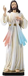Hanzou Air Humidifier 12 Inch Jesus Statue Resin Hand Painted Holy Figurine Sculpture Catholic Decor