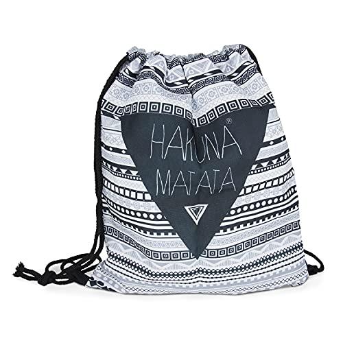 Loomiloo Beutel Hakuna Matata - Turnbeutel - Sportbeutel - Tasche für Kinder und...