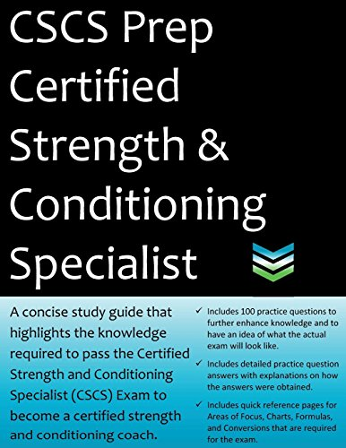 CSCS Prep Certified Strength & Conditioning Specialist: 2020 Edition Study Guide that highlights the