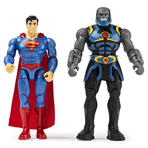 DC Comics Set mit Zwei Figuren, Action-Figuren der Gerechtigkeit, 10 cm. Superman Dark Seid (BIZAK 61926872)