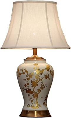 Xq Simple Living Room Ceramic Table Lamp Bedroom Bedside Lamp Creative Study Retro Table Lamp