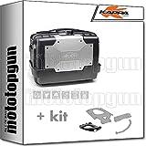 kappa maleta kgr46 garda 46 lt + portaequipaje monokey compatible con kymco ak 550 ak550 2020 20
