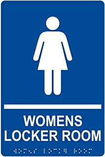 women's locker room sign