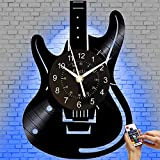 Guitar LED Vinyl CD Record Wall Clock Music Wall Art Home Decor for Bedroom Living Room Birthday Gift for Man and Women Music Fans 12 INCH (Muisc 4(LED))
