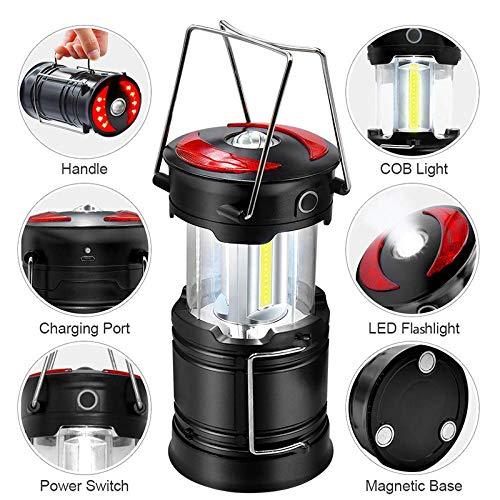 Lampara Luz Cámping Super Brillante 4 Modos Resistente al Agua portátil para Luz de Trabajo Exterior Emergencias Senderismo Pesca y Más Aventura Apagón de Corriente Garaje (Battery Powered)