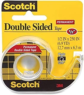 Bulk Buy: 3M (4-Pack) Scotch Permanent Double Sided Tape .5'X250' 136