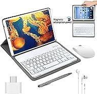 Tablet PC 10 Pollici con Wifi offerte, Tablet PC 4GB RAM 64GB RAM, 4G Tablet Offerte 10 Pollici Android 8.1 Quad-Core Dual SIM con 8MP Fotocamera, Tablet PC in Offerta con Tastiera Tablet 2 in 1