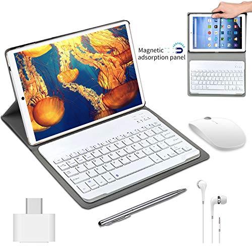 Tablet 10 Pulgadas barats y Buenas 4GB RAM 64GB ROM Android 9.0 Pie Tablet PC 2 en 1 con Teclado y Mouse Quad-Core Dual SIM Buenas Tabletas de función de Llamada 4G 8000mAh