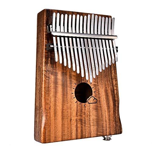 17 Tasten Holz Kalimba Thumb Piano Link Lautsprecher Elektro Mit Tasche Kabel Mbira Marimba Musikinstrument Akazienholz