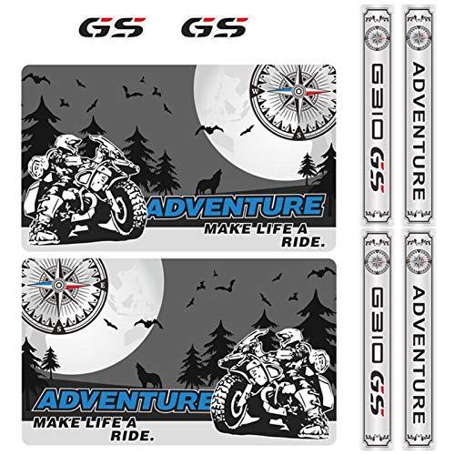 Carta autoadesivo Set completo Valigie in alluminio 310 bagagli del motociclo di coda casi Top Box laterale Adesivi Fits decalcomania di avventura for caso BMW G310GS G310 GS ADV (Color : 3)