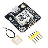 MakerHawk Modulo GPS Ricevitore GPS Bassa potenza Alta sensibilità con antenna IPEX Compatibile con NEO-6M per microcontrollore 51 STM32 UNO R3 Arduino