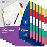 Avery 5-Tab Binder Dividers, Write & Erase Multicolor Big Tabs, 6 Sets (23076)...