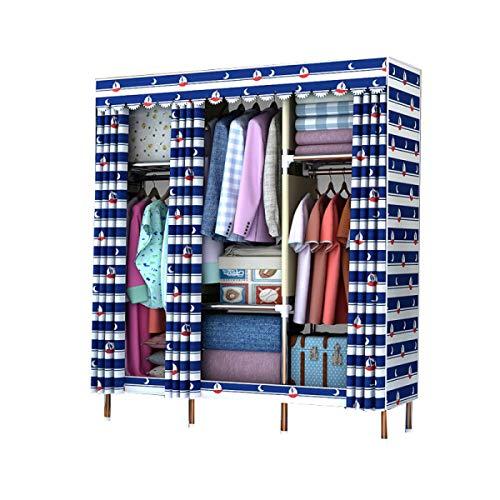BYCDD draagbare cabina ruimtebesparend rek van staal vouwkast kast voor slaapkamer Wardrobe hoed voor schoenen