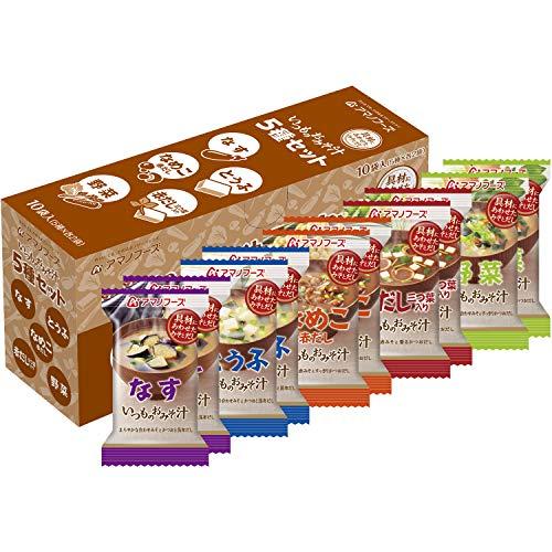 アサヒグループ食品 アマノフーズ いつものおみそ汁5種セット10食