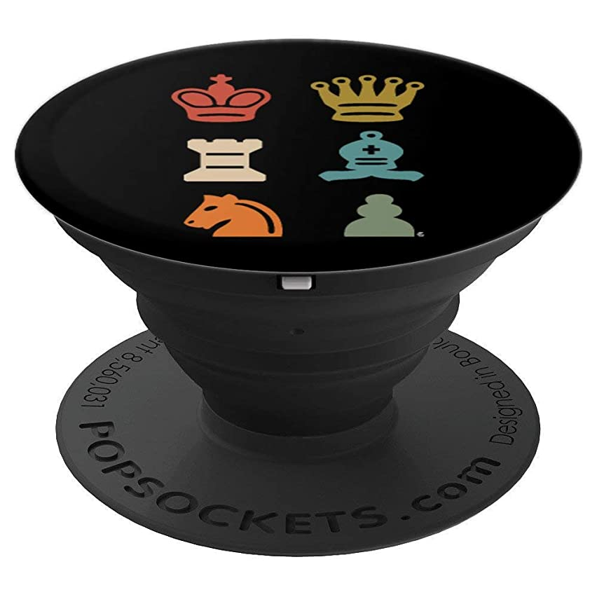 Chess Board Piece Checkers Chess Lover Gift - PopSockets Grip and Stand for Phones and Tablets