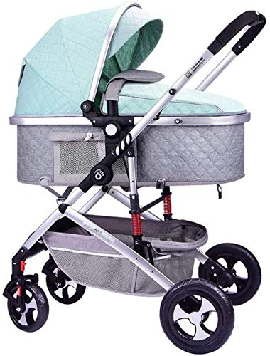 Landaus Poussette Poussette Transport, poussettes Buggy Compact, Portable Pram Transport Anti-Choc en Aluminium Poussette Fournitures pour bébé ( Color : Green )