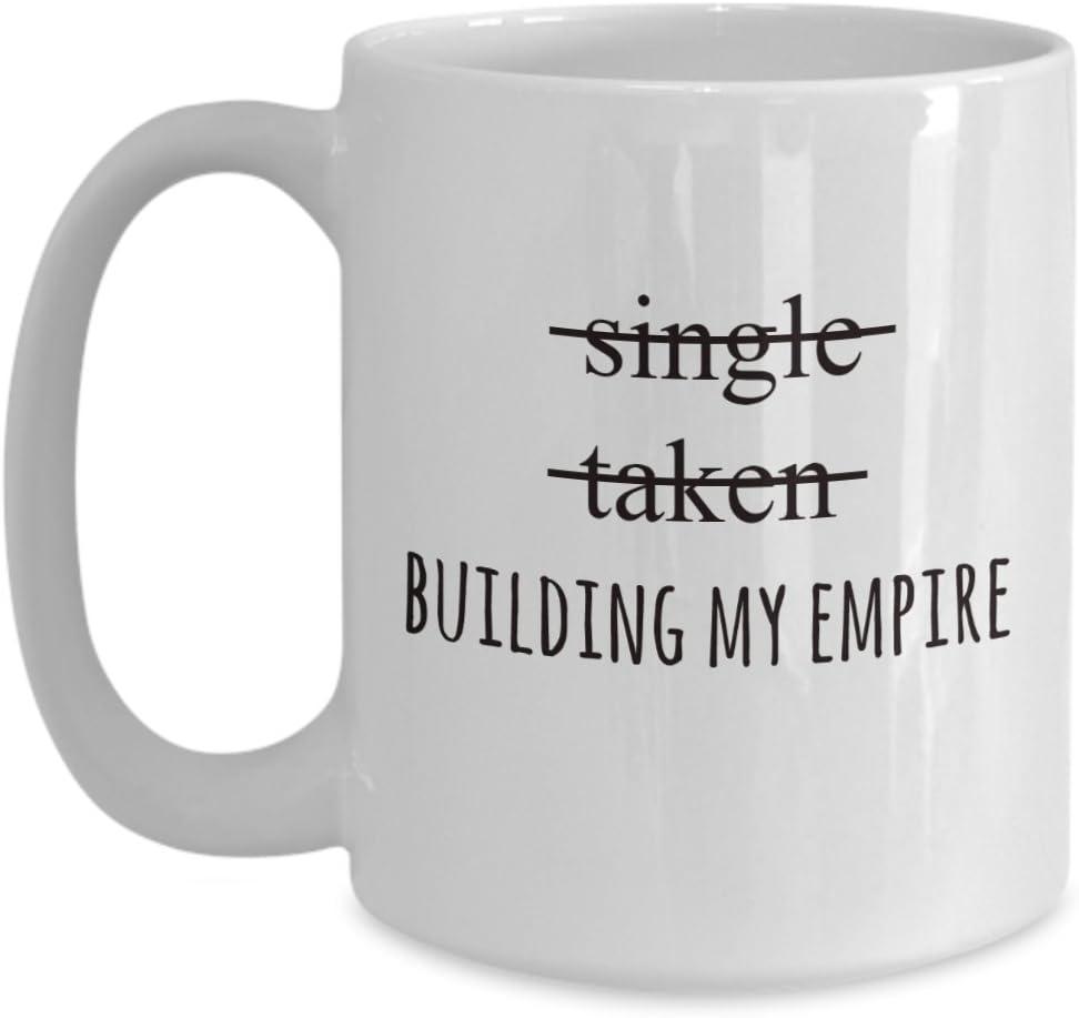 single taken building my empire mug