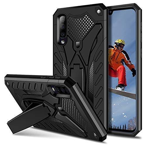 Coolden Samsung Galaxy A50 Hülle,Rugged Outdoor Stoßfest Schutzhülle mit Ständer Dual Layer Hard PC + TPU Bumper Handyhülle für Samsung Galaxy A50/A50s/A30s (Schwarz)