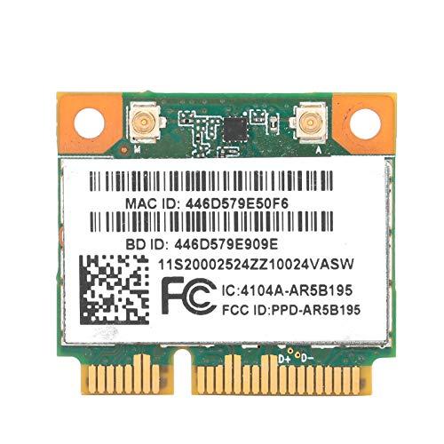 PUSOKEI Mini Tarjeta de Red PCIe AR5B195, módulo de Tarjeta inalámbrico Half PCI-E Bluetooth3.0 150Mbps, para Windows XP / 7/8, para computadora de Escritorio PC para Lenovo para IBM