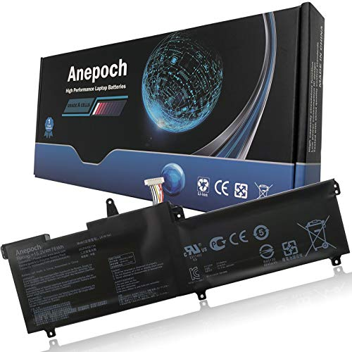 Anepoch C41N1541 Laptop Battery Replacement for Asus ROG Strix GL702 GL702V GL702VS GL702VT GL702VM GL702VM1A Series 0B200-02070000 4ICP4/59/13 15.2V 76Wh 4840mAh
