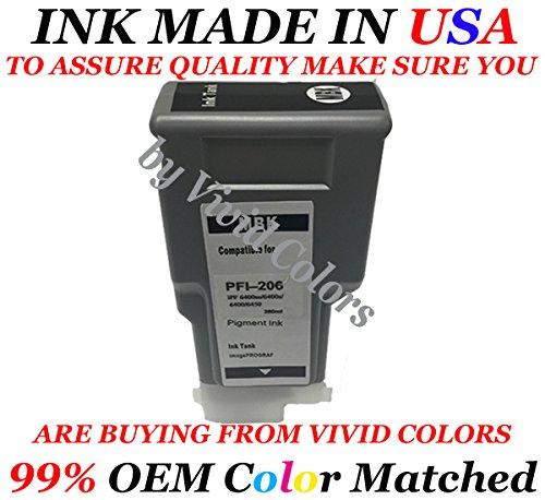 Compatible Cartridge Canon PFI206 Matte Black Ink Canon PFI206 MK for Canon PFI206 IPF 6400se IPF 6400s IPF 6400 IPF 6450