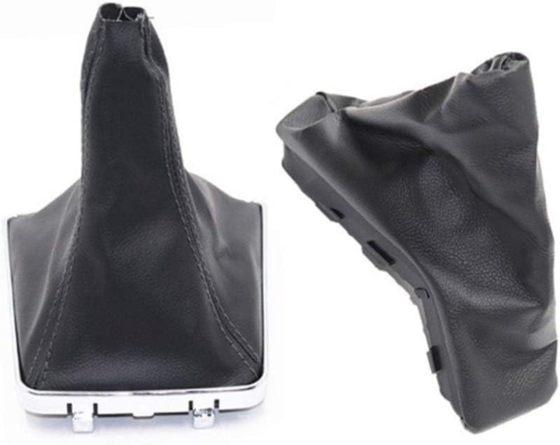 Cecilie For Opel Astra H Palanca de Arranque y Freno de Mano apretones de Coches Anti Slip estacionamiento Freno de Mano de Arranque Cecilie Color Name : Gear Boot Black Line