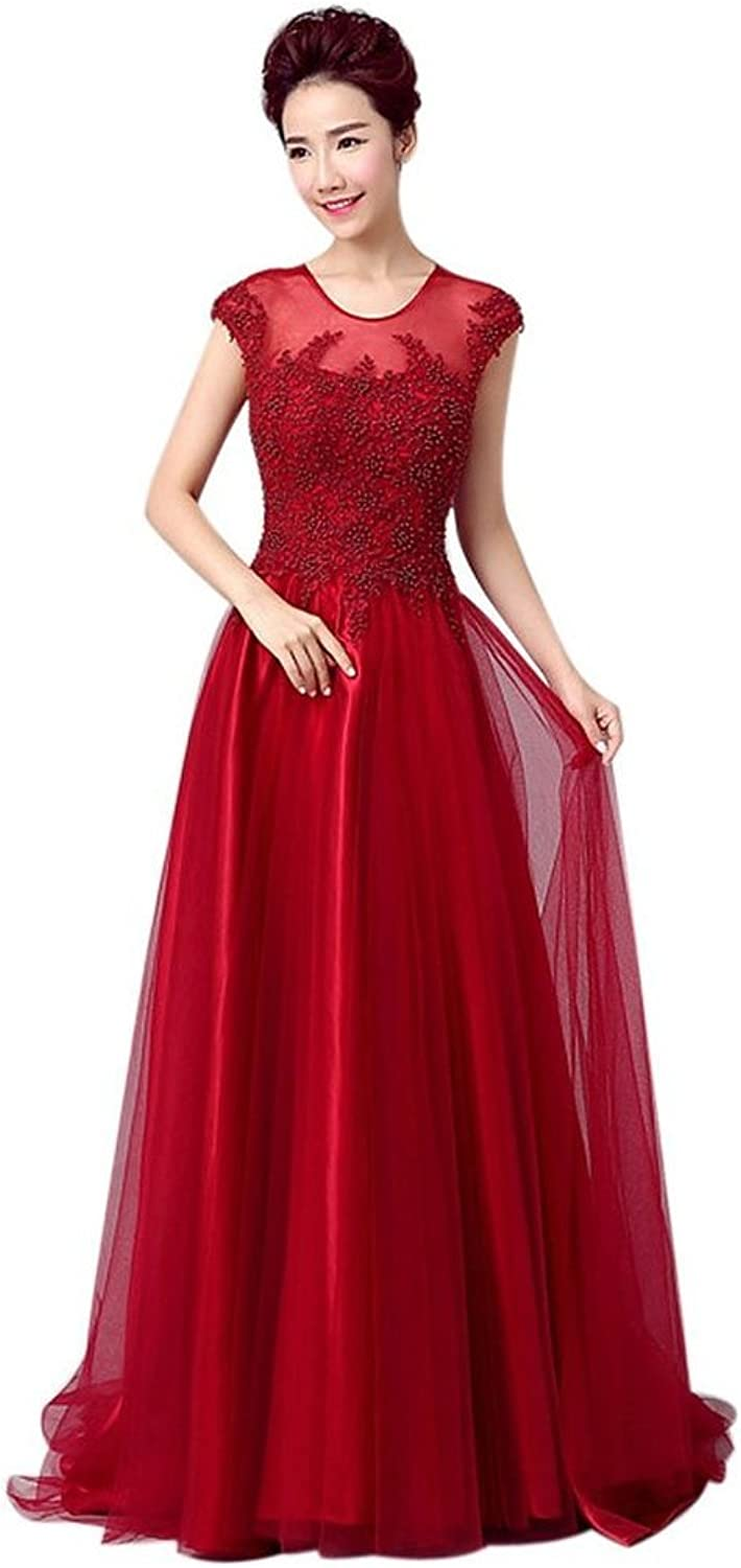 Shanghai Story Lace Floral Beaded Bridesmaid Prom Long Formal Evening Dress
