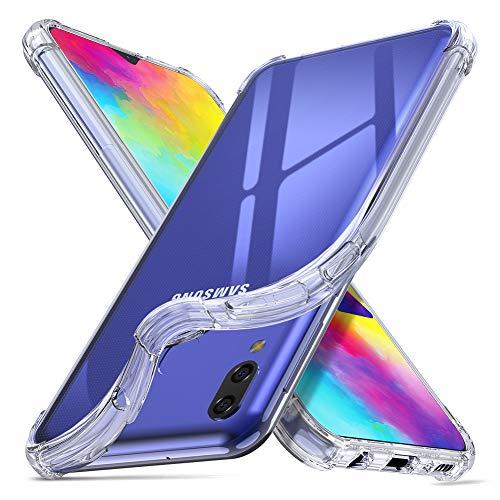 ORNARTO Hülle für Samsung M20, Transparent Soft TPU Silikon Handyhülle Vier Ecke Kante Stoßdämpfung Design Kratzfest Durchsichtige Schutzhülle für Samsung Galaxy M20(2019) 6,3 Zoll Klar