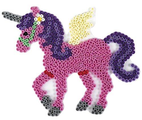 Hama MIDI Bügelperlen Stiftplatte Einhorn Pegasus (315) + 100 Gratis Perlen