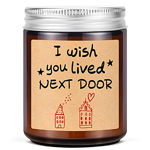 Lavender Scented Candles - I Wish You Lived Next Door - Best Friend,...