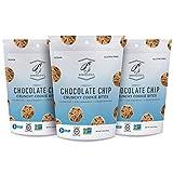 Bakeology Vegan Cookies | Chocolate Chip | 3 - 6 Oz Bag | Gluten Free Crunchy Mini Cookie Bites,...
