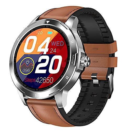 ZGZYL Reloj Deportivo para Hombres con Monitor De Ritmo Cardíaco/Presión Arterial / SPO2 Monitor/Men's Smart Watch Fitness Tracker Bluetooth Smart Watch (para iOS Android),F