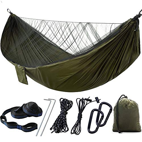 yanshan Les Filets Peuvent être Ouverts Parachute automatiquement mis à Niveau la Vitesse moustiquaires Ouvert hamac Double hamac extérieur (Size : Dark Green)