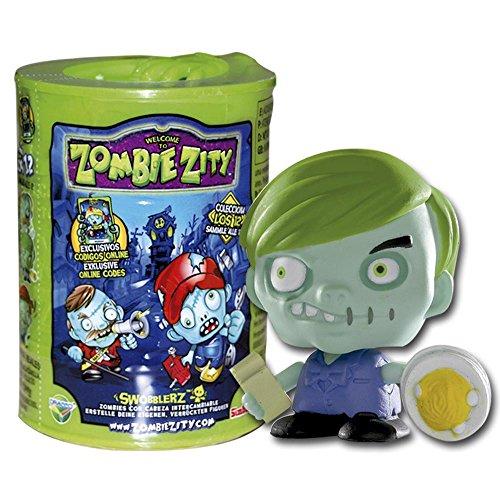 Zombie Zity - Barril, muñeco con Cabeza móvil, Multicolor (Simba 4386722)