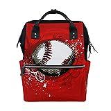 ALINLO - Bolsa deportiva para pañales de béisbol, gran capacidad, multifunción, para viajes