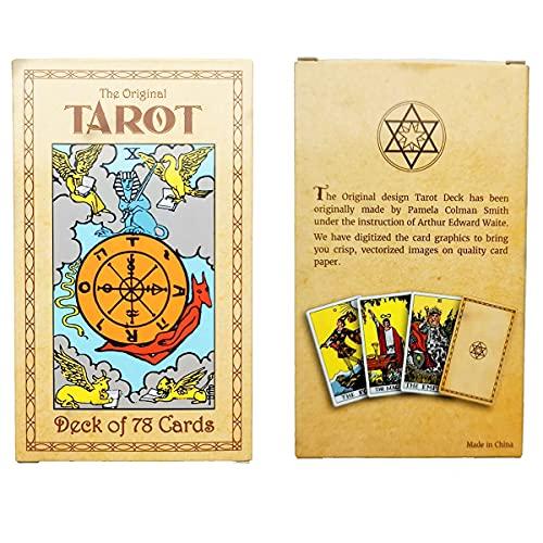 Lot de 78 cartes Tarot Cards – Original Smith-Waite Rider Centennial Deck avec 100 guides Book English Version