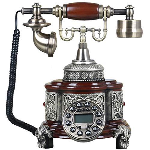 JNYTD Retro telefoon/antieke telefoon/vintage telefoon, hars + metalen knop wijzerplaat + metalen bel thuis en kantoor Decor