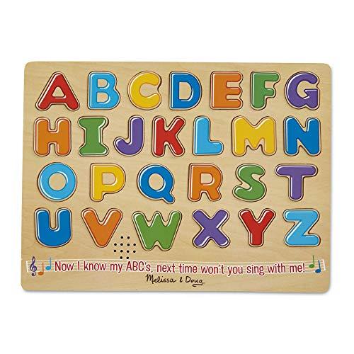 Melissa & Doug Number & Alphabet Sound Puzzle Bundle